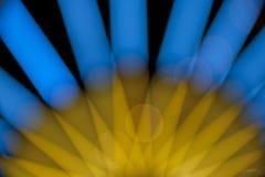 Bokeh för blått och gult ljus Arkivfoto