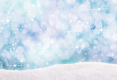 Bokeh of falling winter snowflakes Royalty Free Stock Image