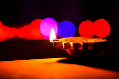 Bokeh festive. Diwali lights with a Bokeh effect Royalty Free Stock Photography
