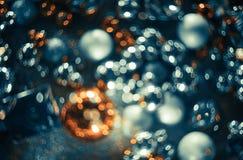 Bokeh Fond abstrait de Noël avec le bokeh coloré Images stock