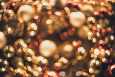 Bokeh Fond abstrait de Noël avec le bokeh coloré Photo libre de droits