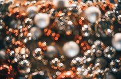 Bokeh Fond abstrait de Noël avec le bokeh coloré Image libre de droits