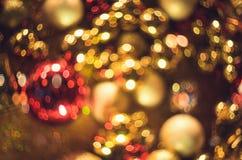 Bokeh Fond abstrait de Noël avec le bokeh coloré Photo stock