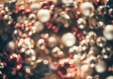Bokeh Fond abstrait de Noël avec le bokeh coloré Photographie stock