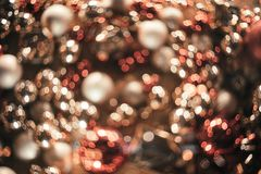 Bokeh Fond abstrait de Noël avec le bokeh coloré Photos stock