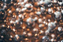 Bokeh Fond abstrait de Noël avec le bokeh coloré Images libres de droits