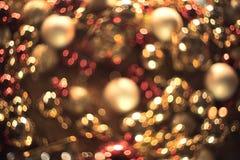 Bokeh Fondo abstracto de la Navidad con el bokeh colorido Imagen de archivo libre de regalías