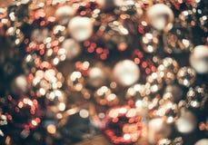 Bokeh Fondo abstracto de la Navidad con el bokeh colorido Fotografía de archivo