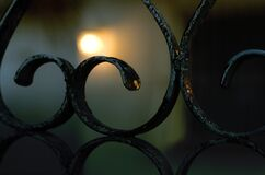 Bokeh gate (with gradient) Royalty Free Stock Photos