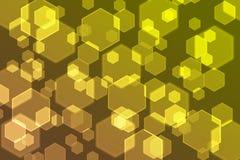 Bokeh-Gelb-Konzepthintergrund Stockfotos