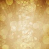 Bokeh giallo con la stella, luna, fondo leggero Fotografie Stock Libere da Diritti