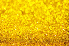 Bokeh gold colour abstract. Royalty Free Stock Photo