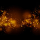 Bokeh gold dust glitter star background. Abstract milky way. Galaxy Stock Images