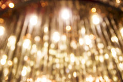 Bokeh gold light background of luxury lamp Stock Images