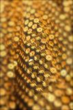 Bokeh gold sequins Royalty Free Stock Photography