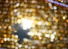Bokeh golden blur. Dark gold glittering lights. Bokeh circles royalty free illustration