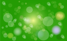 Bokeh green abstract background. Fairy color Royalty Free Stock Images