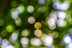 Bokeh. Green bokeh abstract light background Stock Photo
