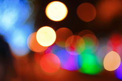 Bokeh. Of green, blue, purple, white, orange, red and yellow lights Royalty Free Stock Images