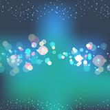 Bokeh green magic background. lovely and cute green background. Vector illustration. EPS 10. Sale poster Stock Image