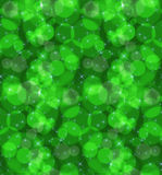 Bokeh green stars stock illustration