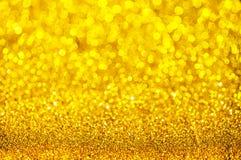 Bokeh guld- färgabstrakt begrepp Royaltyfri Foto