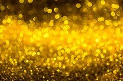 Bokeh guld- färgabstrakt begrepp Royaltyfri Fotografi