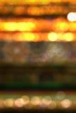 Bokeh guldbakgrund Arkivfoto