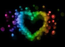 Bokeh heart stock image