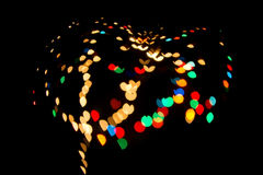 Bokeh heart spots of lights on background Royalty Free Stock Photography