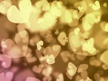 Bokeh with hearts Stock Image