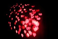 Bokeh hearts Royalty Free Stock Images