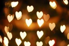Bokeh hearts stock photos