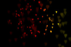 Bokeh hearts background Royalty Free Stock Images