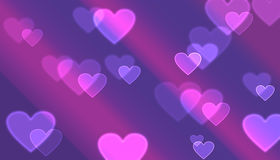 Bokeh of hearts Stock Photography