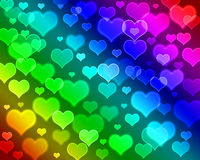 Bokeh hearts stock images