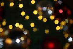 Bokeh-Hintergrund bunt von den frohen Weihnachten, guten Rutsch ins Neue Jahr bokeh Beleuchtungsglanz auf Nachthintergrund, Bokeh Stockfotografie