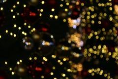 Bokeh-Hintergrund bunt von den frohen Weihnachten, guten Rutsch ins Neue Jahr bokeh Beleuchtungsglanz auf Nachthintergrund, Bokeh Stockfoto