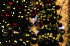 Bokeh-Hintergrund bunt von den frohen Weihnachten, guten Rutsch ins Neue Jahr bokeh Beleuchtungsglanz auf Nachthintergrund, Bokeh Lizenzfreies Stockfoto