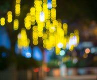 Bokeh-Hintergrund des Lichtes Stockfotos