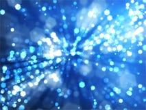 Bokeh Hintergrund mit blauen hellen Strahlen stock abbildung