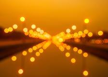Bokeh-Hintergrund vom Licht an Thanon Utthayan-Straße Stockfotos