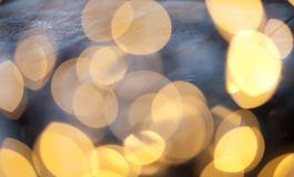 Bokeh holiday background. Golden bokeh holiday background Royalty Free Stock Photos