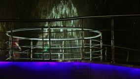 Bokeh illuminated fountain stock footage