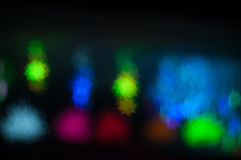 Bokeh image of light shape. Bokeh has been defined as the way the lens renders out-of-focus points of light.Differences in lens aberrations and aperture shape Stock Photography