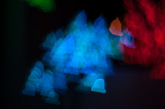 Bokeh image of light shape. Bokeh has been defined as the way the lens renders out-of-focus points of light.Differences in lens aberrations and aperture shape Royalty Free Stock Image