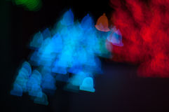 Bokeh image of light shape. Bokeh has been defined as the way the lens renders out-of-focus points of light.Differences in lens aberrations and aperture shape Stock Images