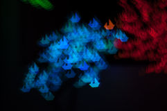 Bokeh image of light shape Stock Photos