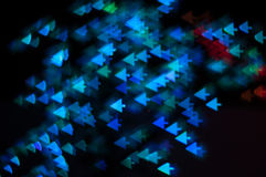 Bokeh image of light shape. Bokeh has been defined as the way the lens renders out-of-focus points of light.Differences in lens aberrations and aperture shape Royalty Free Stock Photography