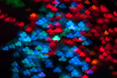Bokeh image of light shape. Bokeh has been defined as the way the lens renders out-of-focus points of light.Differences in lens aberrations and aperture shape Stock Photo